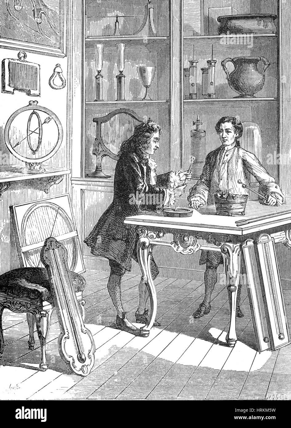 R?aumur Bau Thermometer-Skala, 1731 Stockbild