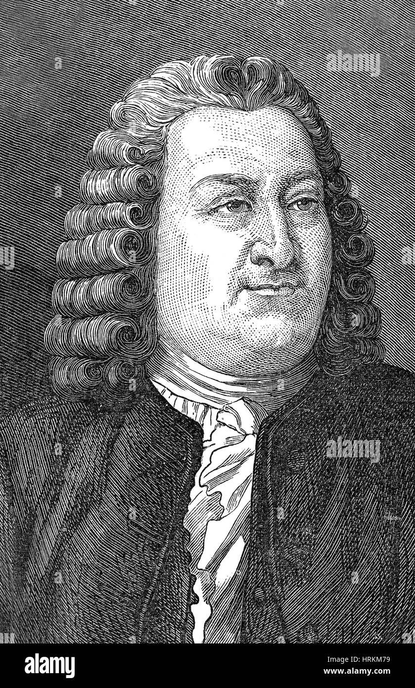 Albrecht von Haller, Schweizer Physiologe Stockbild