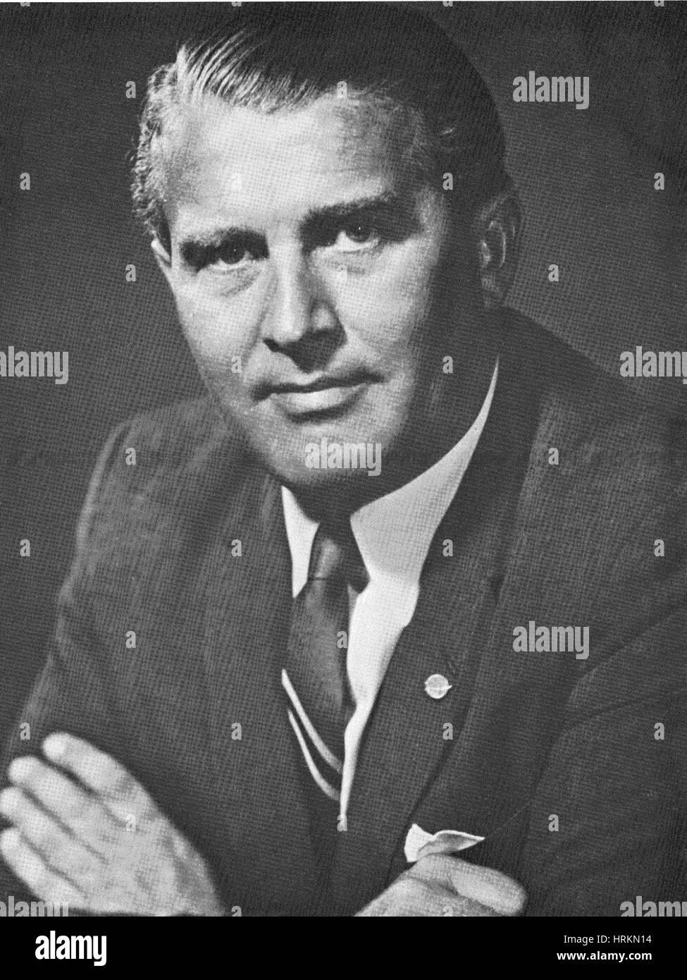Wernher von Braun, deutsch-US-amerikanischer Rakete Pionier Stockfoto