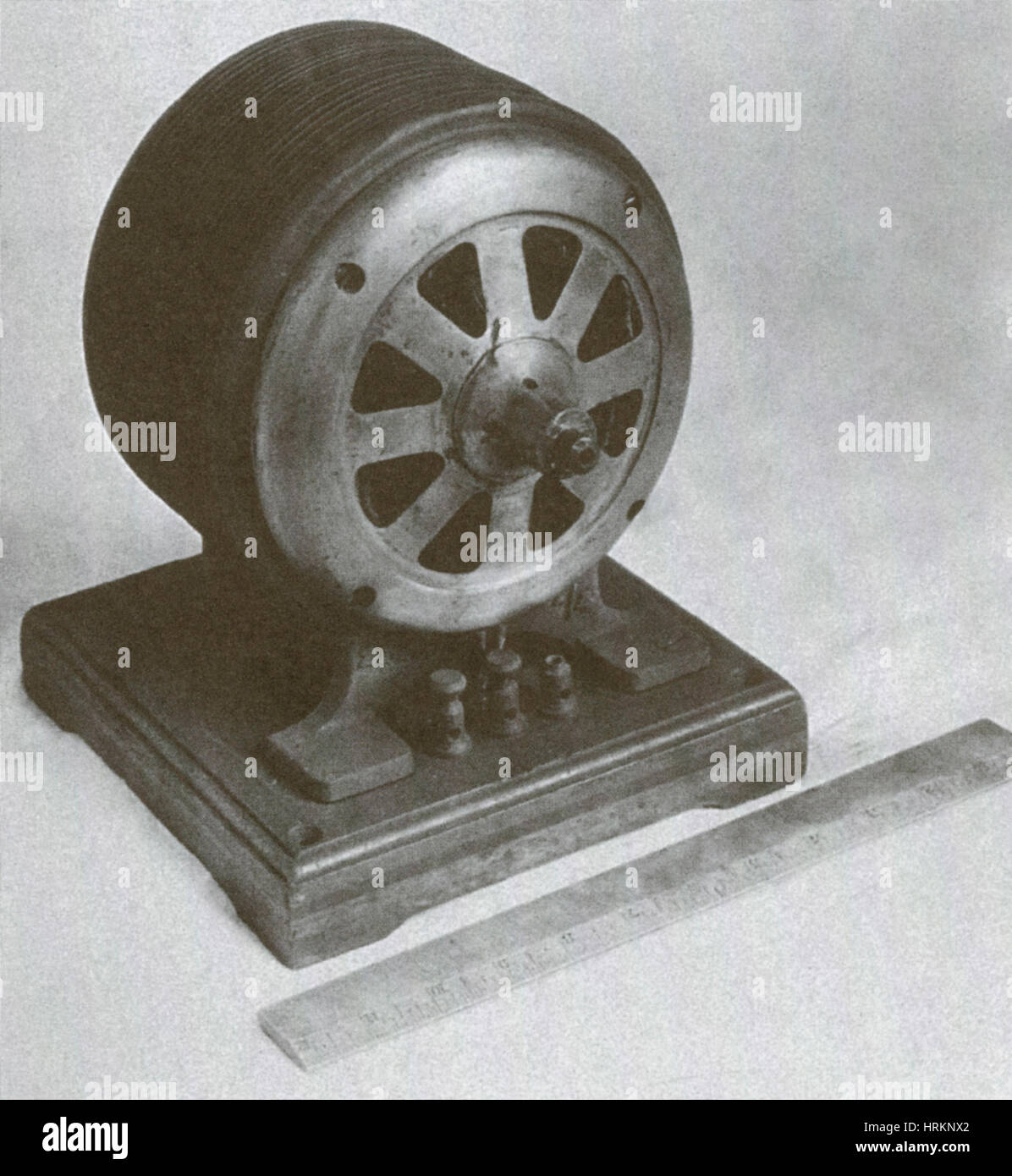 Tesla-Induktionsmotor Stockbild