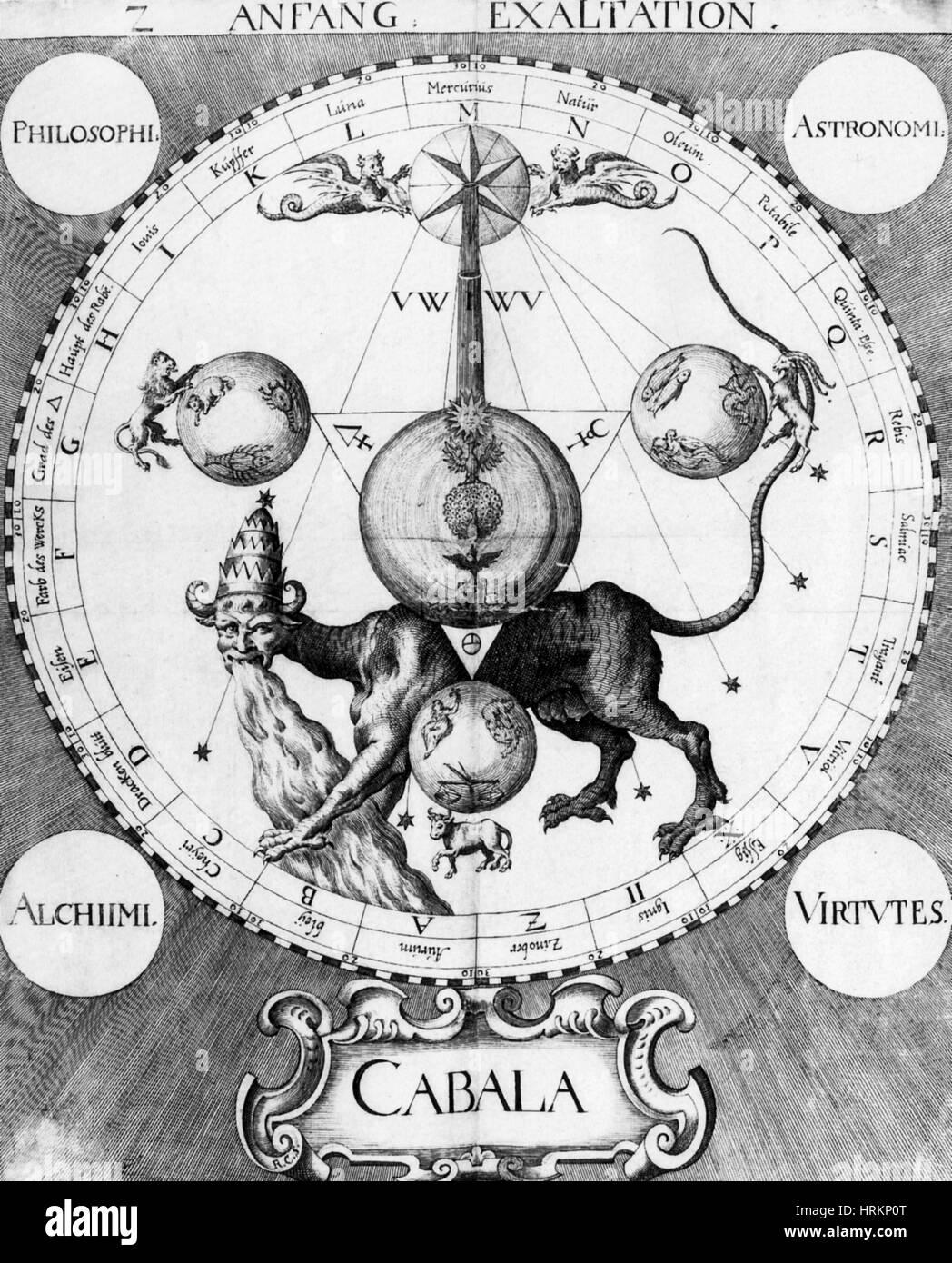 Alchemie-Illustration Stockbild