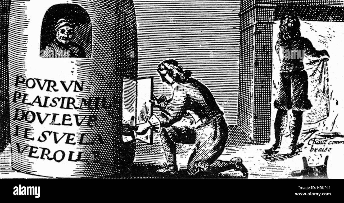Syphilis-Behandlung, 16. Jahrhundert Stockbild