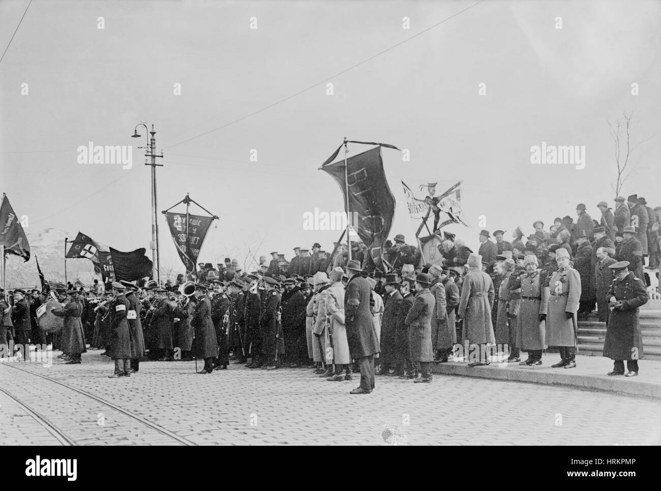 Russische Revolution zu feiern Stockbild