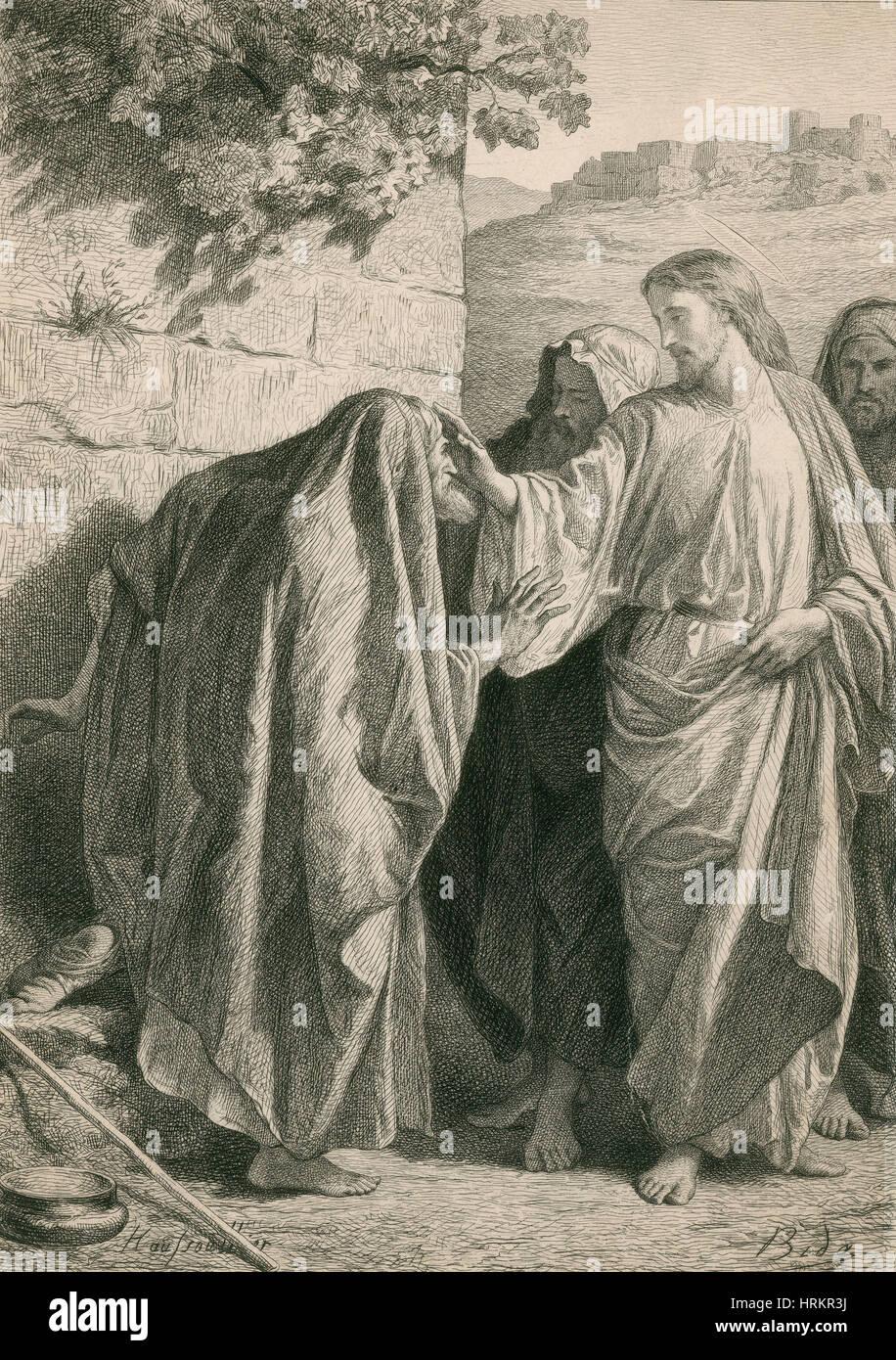 Jesus Christus, die Heilung der Kranken Stockbild