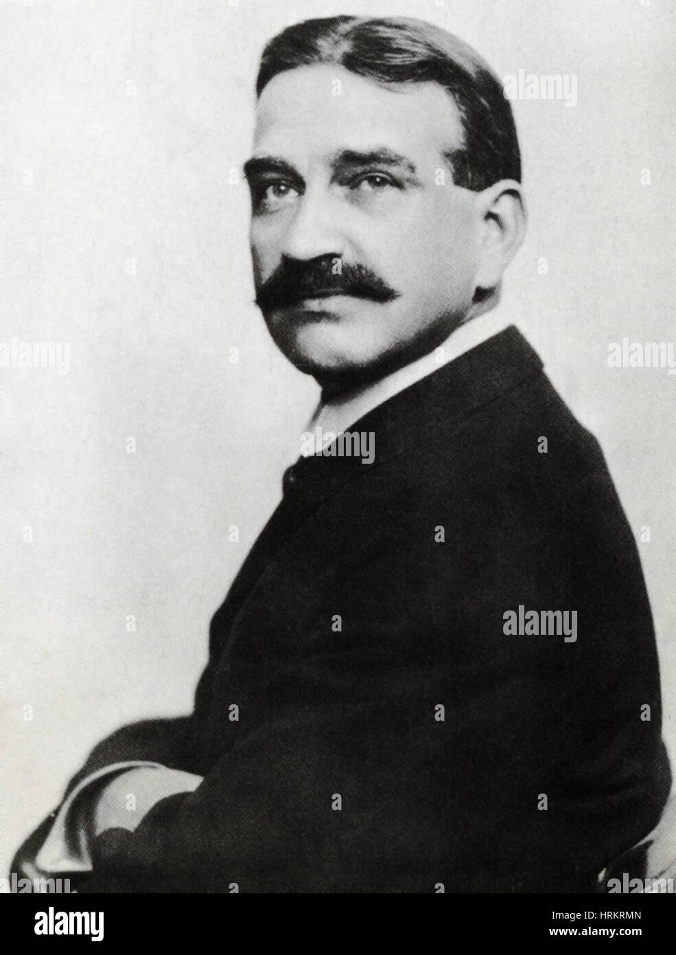 L. Frank Baum, US-amerikanischer Schriftsteller Stockbild