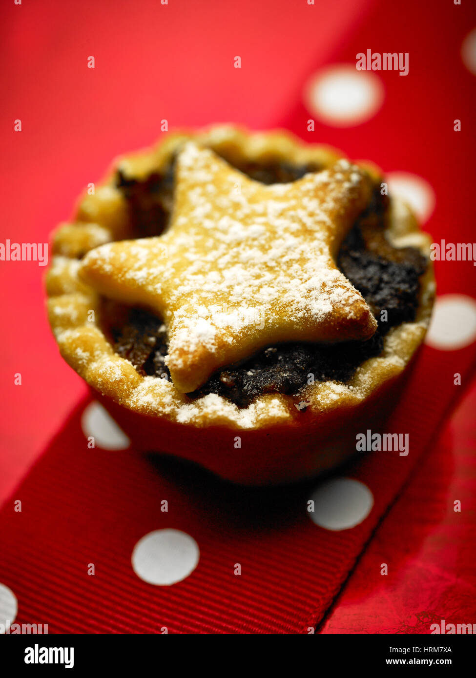 Chrismas Obstkuchen Stockbild