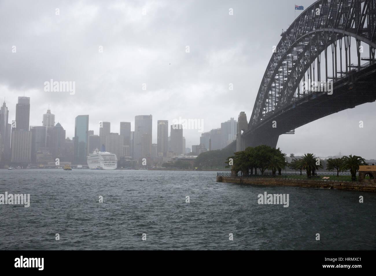 Sydney, Australien. 3. März 2017. Eine Woche nach starken Regenfällen und Gewittern in Sydney und Teile von New South Wales fortsetzt, Sturzfluten in Teilen des Staates am kommenden Wochenende dürfte. Bildnachweis: Martin Beere/Alamy Live News Stockfoto