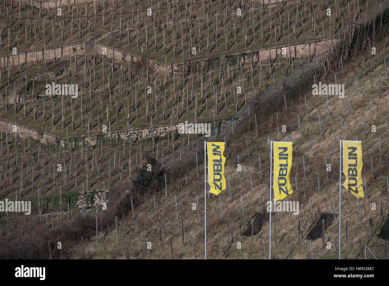 Baufirmen Stuttgart stuttgart deutschland 2 märz 2017 flaggen der baufirma zueblin