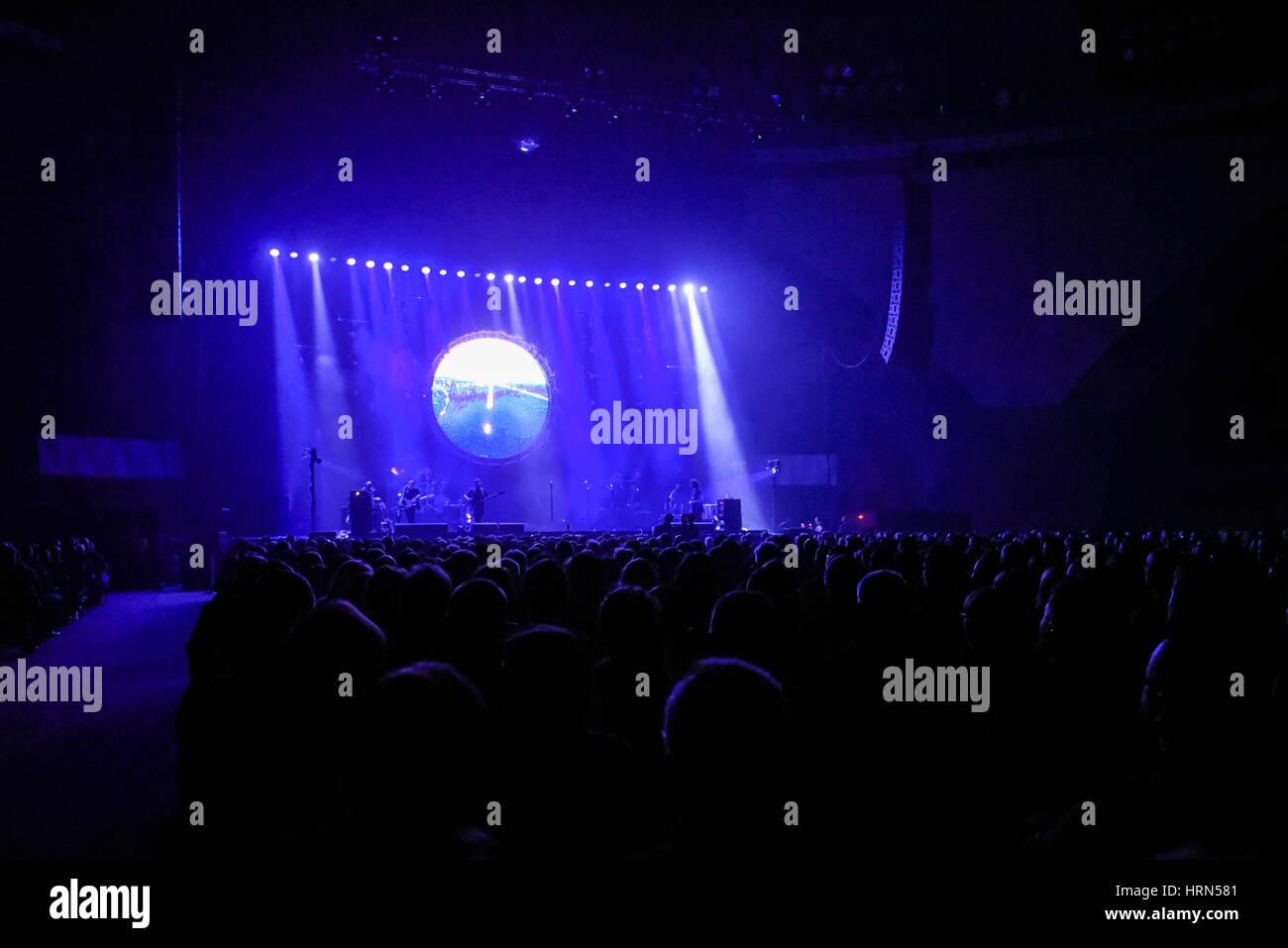 """Wroclaw, Polen. 3. März 2017.  Australian Pink Floyd führt während der visuellen Einstellung, """"The Best Side Of Stockfoto"""