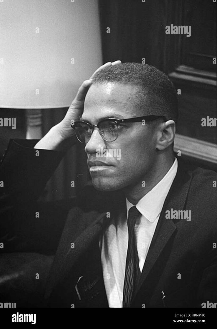 Malcolm X, US-amerikanischer Menschenrechtsaktivist Stockfoto