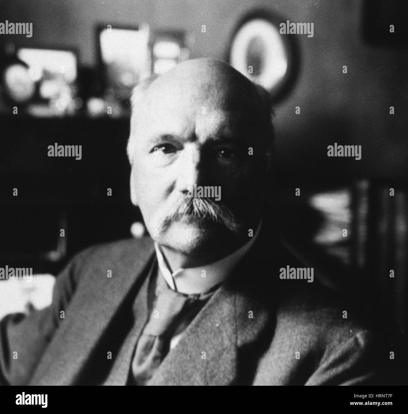 Albrecht Kossel, deutscher Biochemiker Stockbild