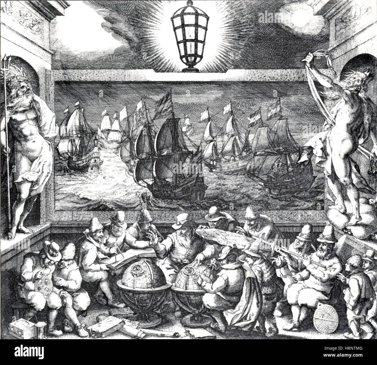 Das Licht der Navigation, 1620 Stockbild