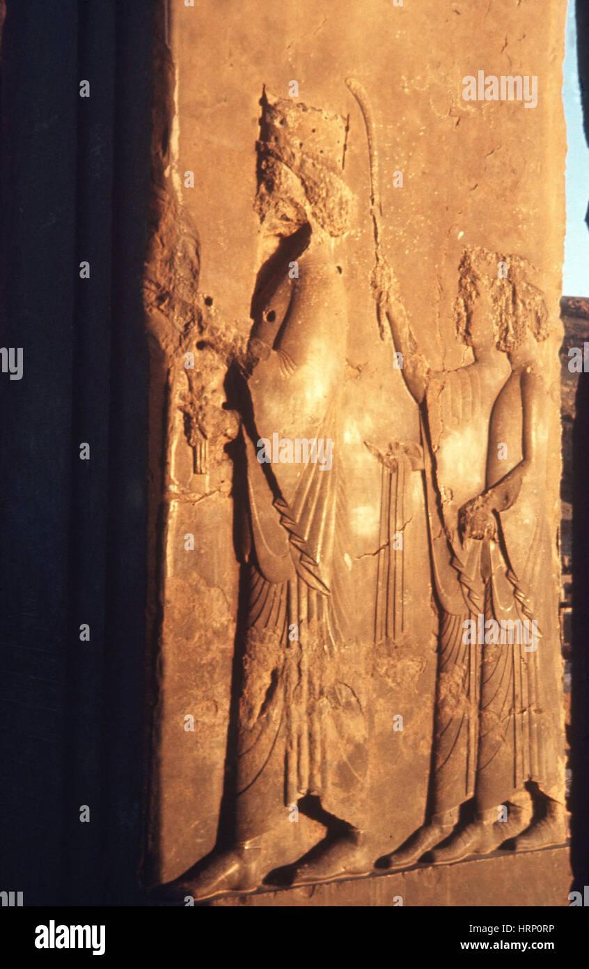 Antiken Schnitzereien Stockbild