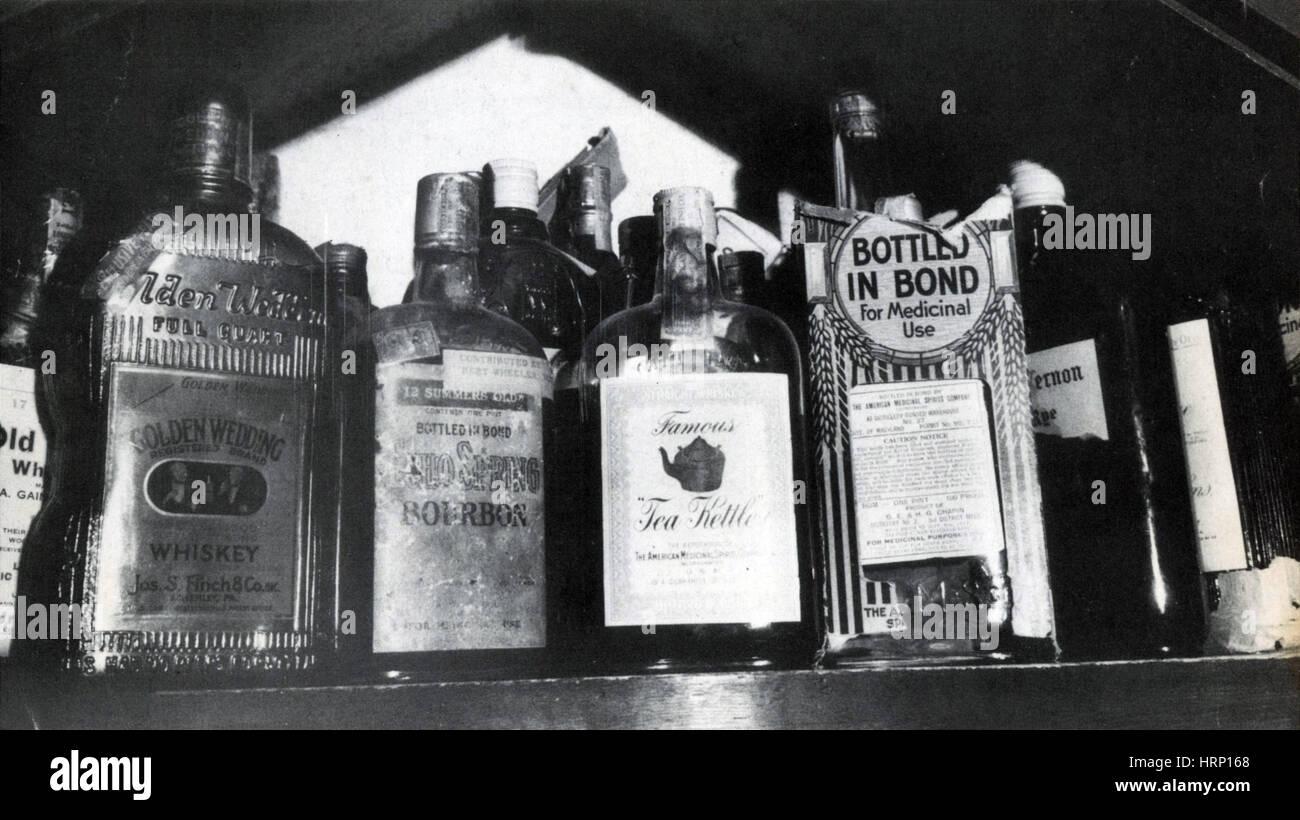 Verbot, berühmte Bootleg Alkohol, 1920er Jahre Stockbild