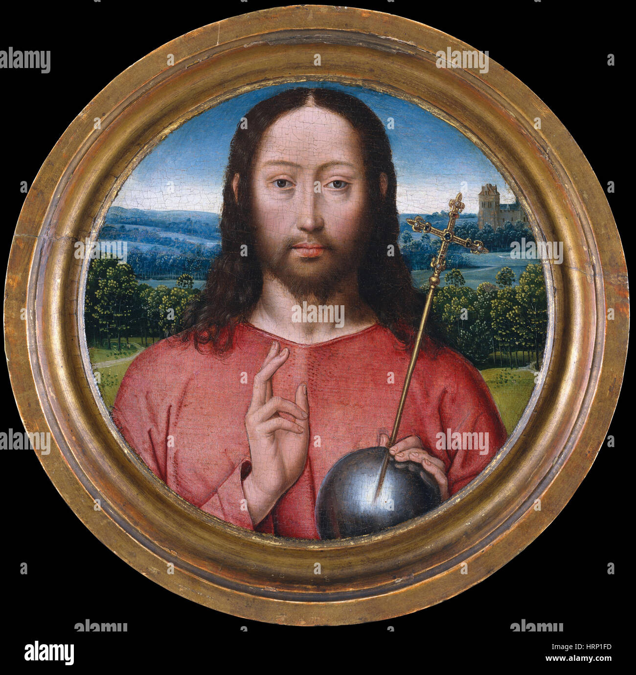 Christus, Salvator Mundi Stockbild