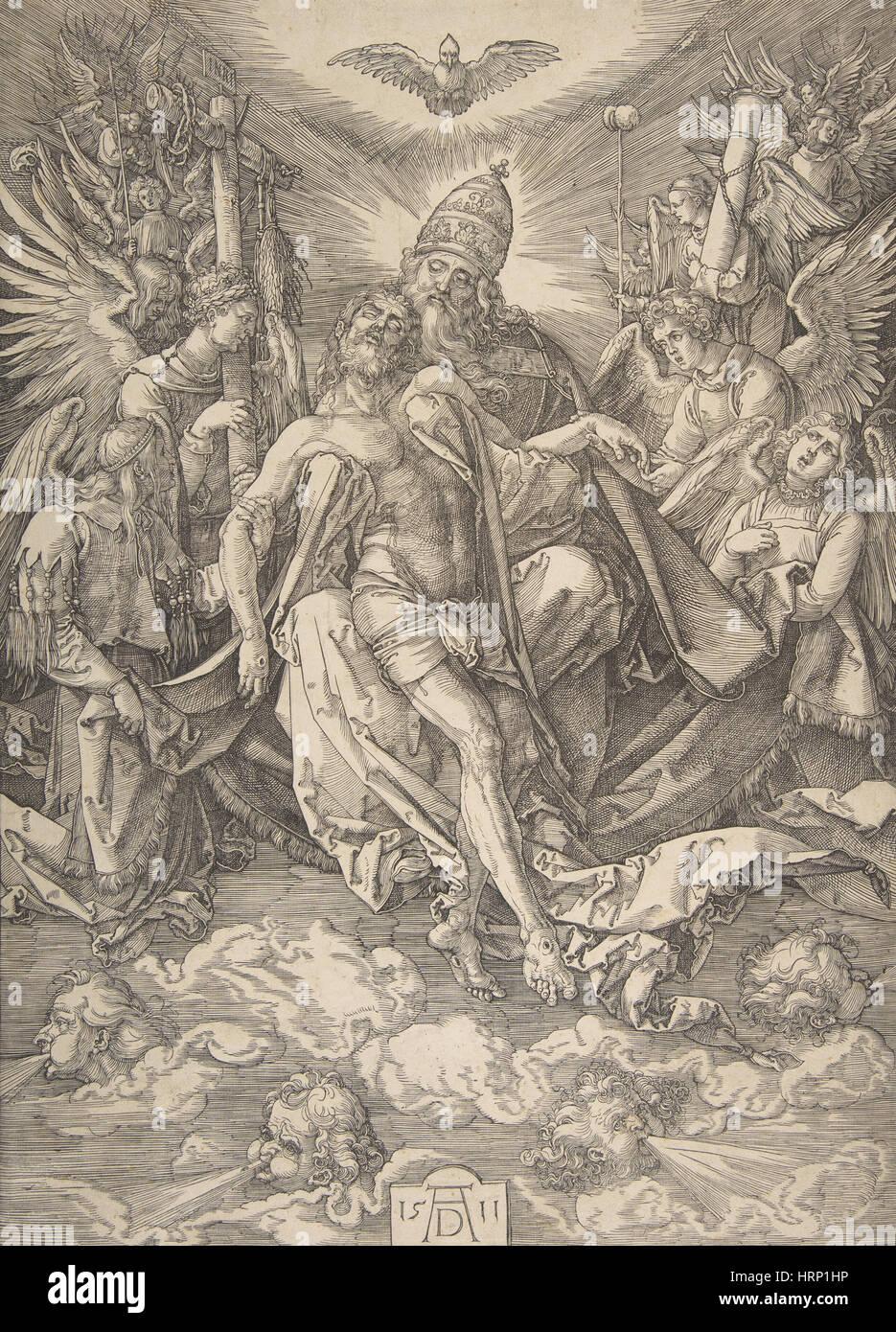Die Heilige Dreifaltigkeit von Albrecht DÌ_rer Stockbild