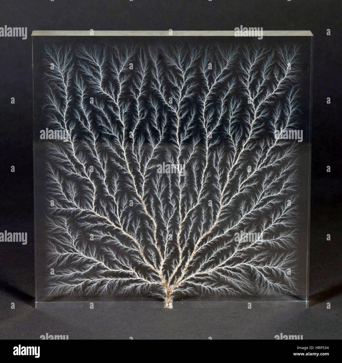 lichtenberg figur, elektron-baum stockfoto, bild: 135095048 - alamy