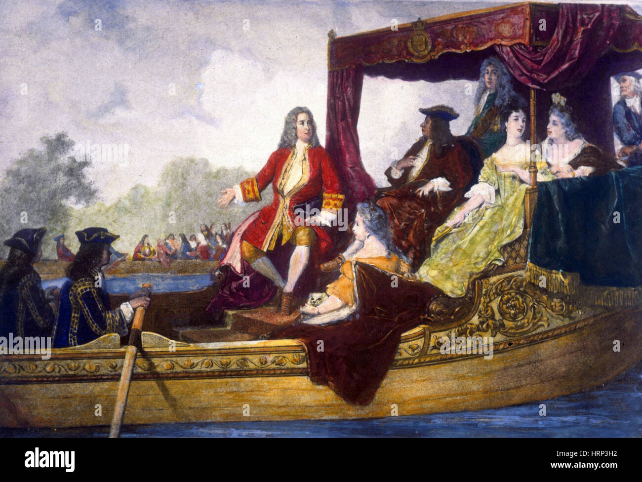 George Händel und König George ich Stockbild