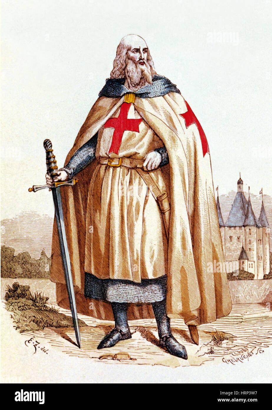 Jacques de Molay, Großmeister der Ritter Templar Stockbild