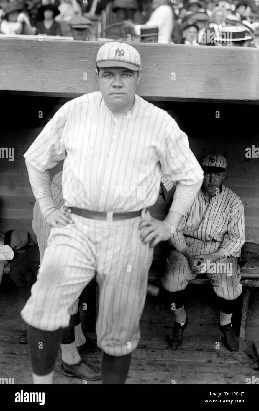 US-amerikanischer Baseball-Legende Babe Ruth Stockbild