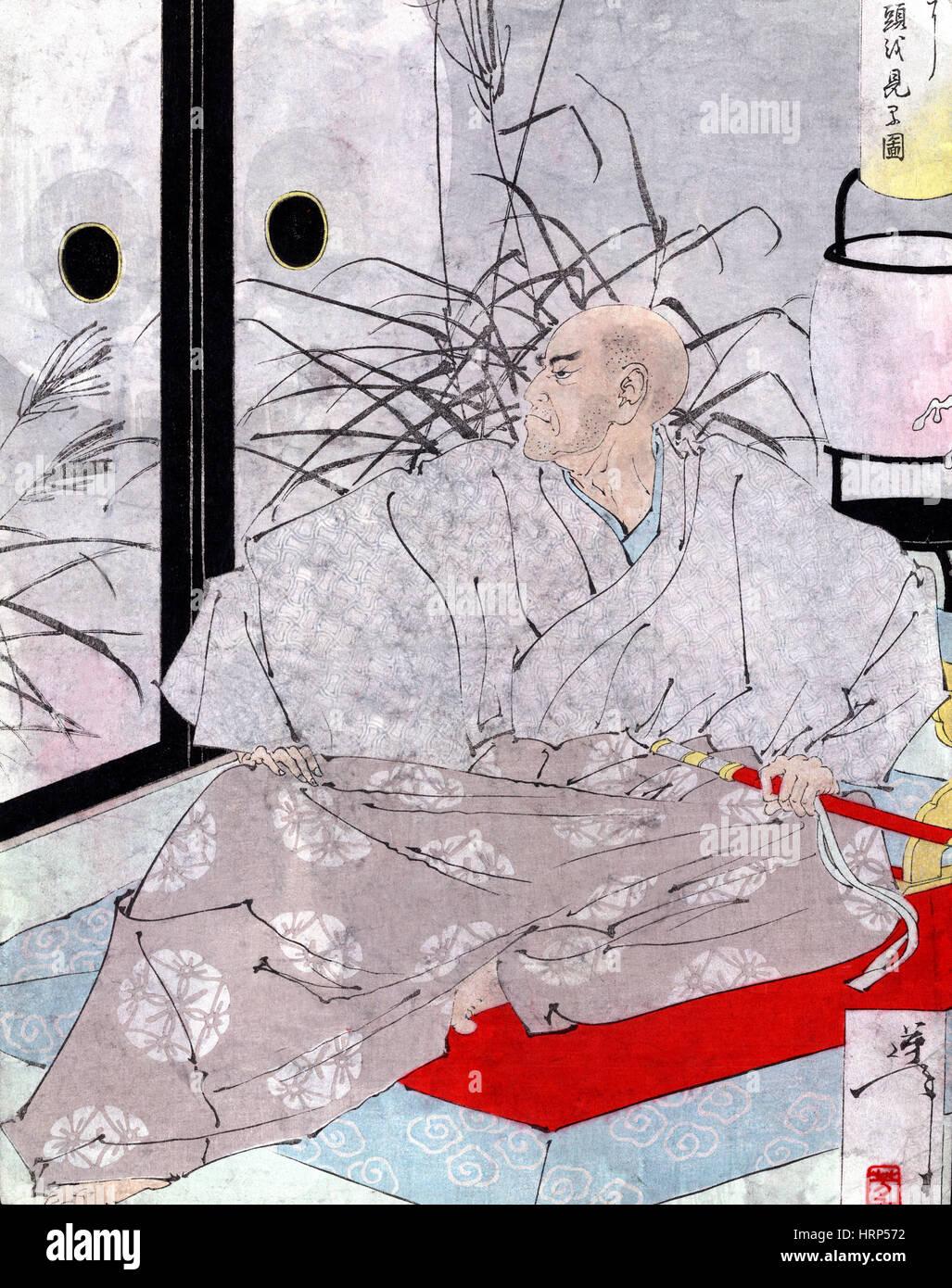 Taira no Kiyomori, Vision Dämon, 12. Jahrhundert Stockbild