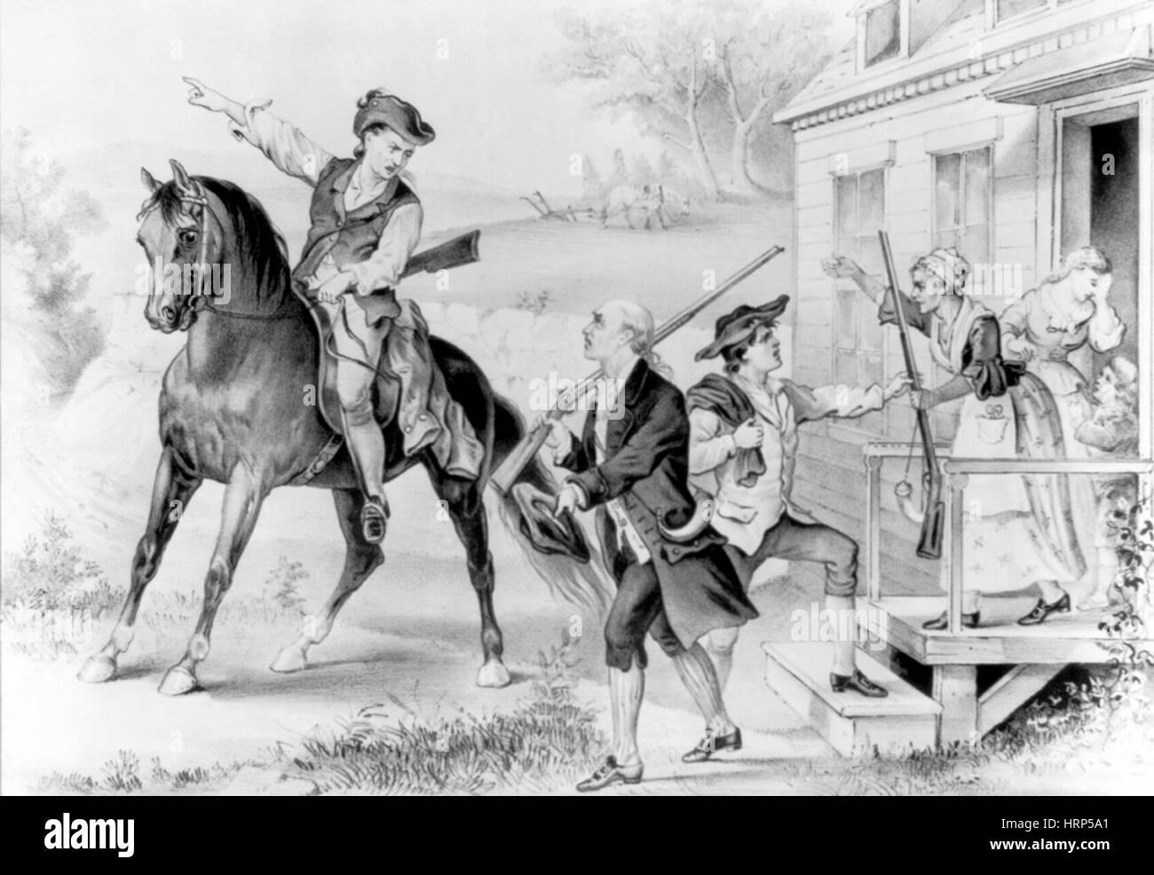 Minutemen der amerikanischen Revolution Stockbild
