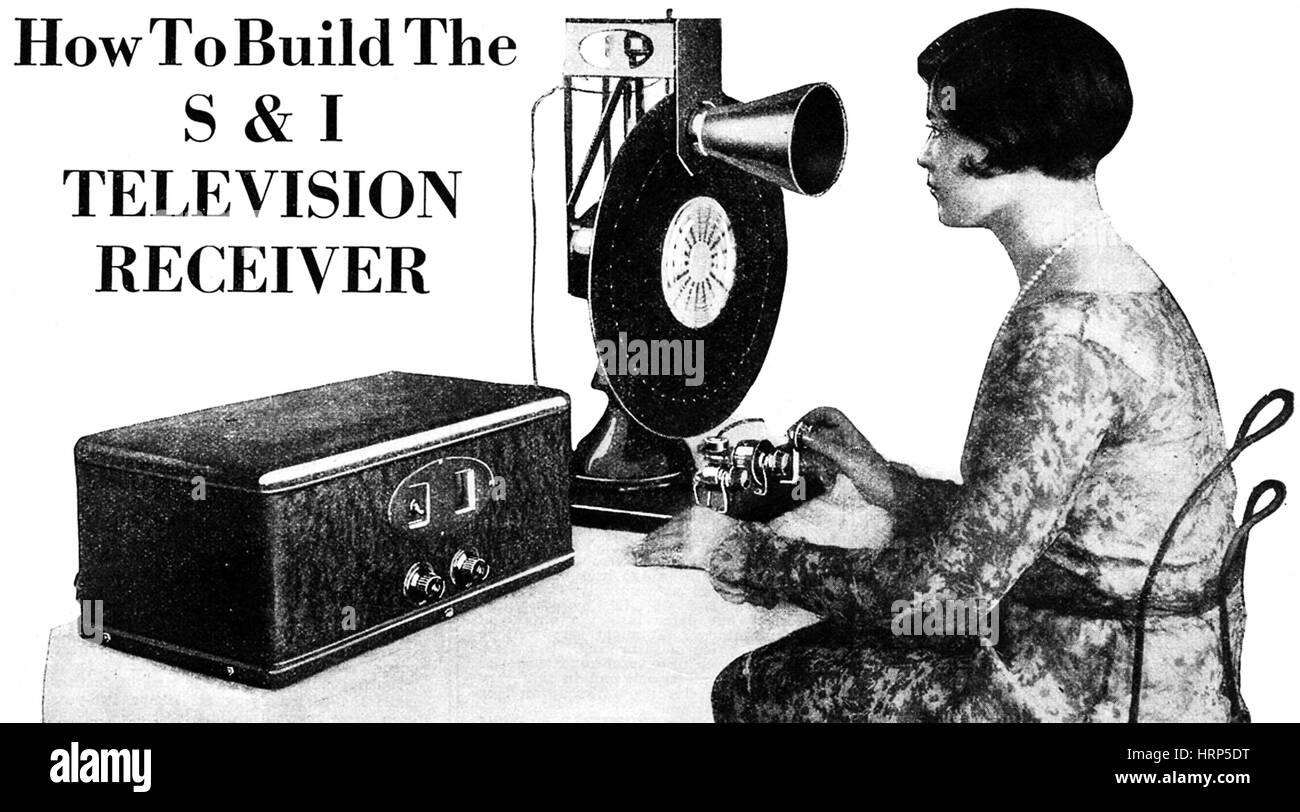 Fernsehempfänger, 1928 Stockbild