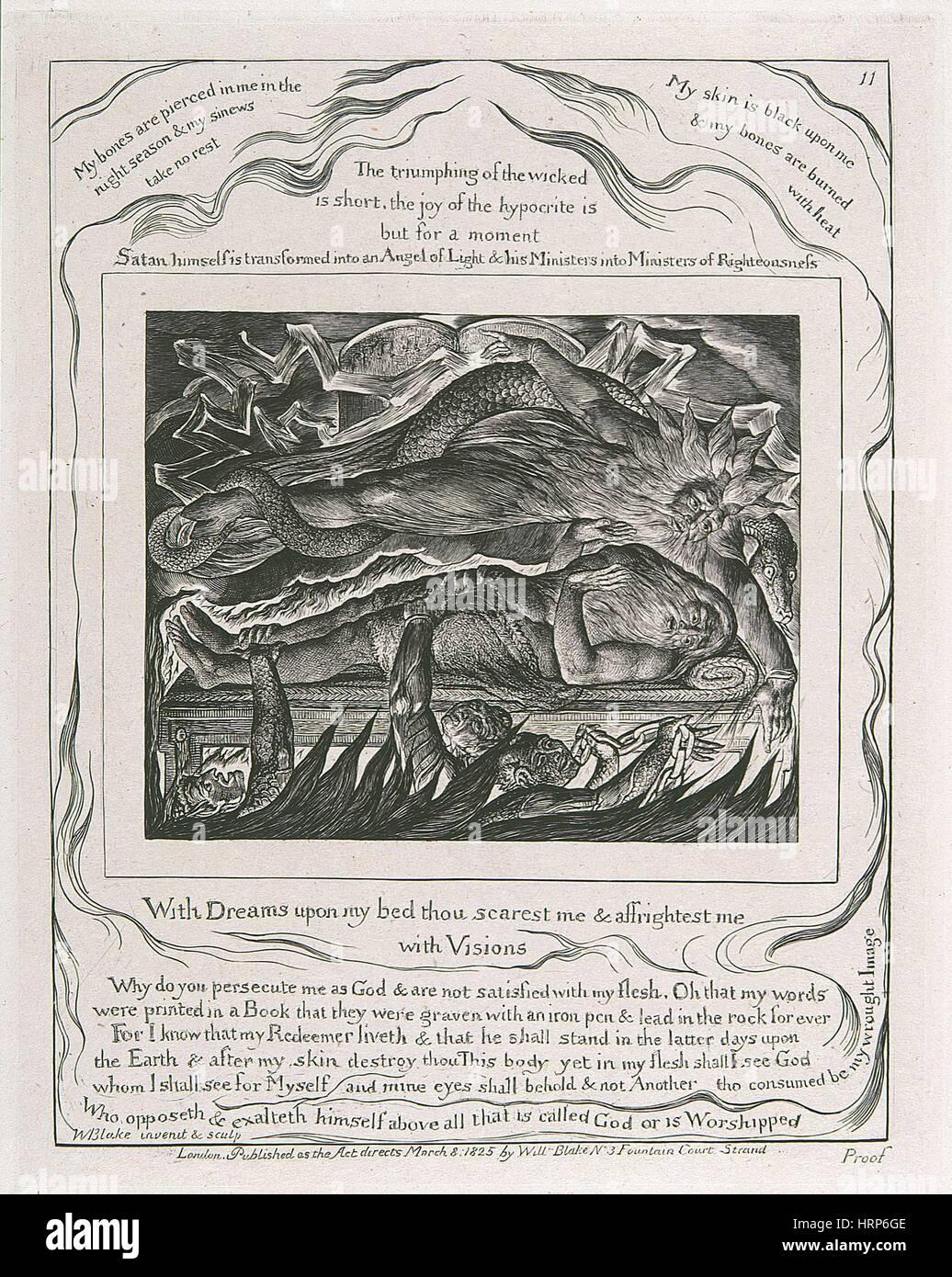 """William Blakes """"Hiobs böse Träume"""" Stockbild"""
