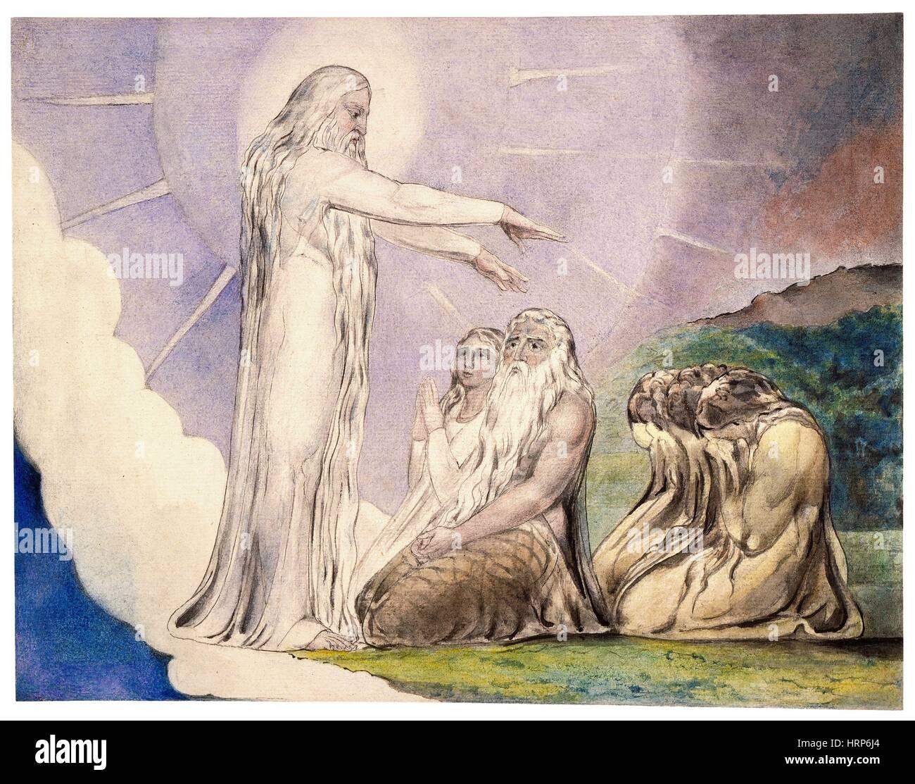 """William Blakes """"die Vision von Christus"""" Stockbild"""