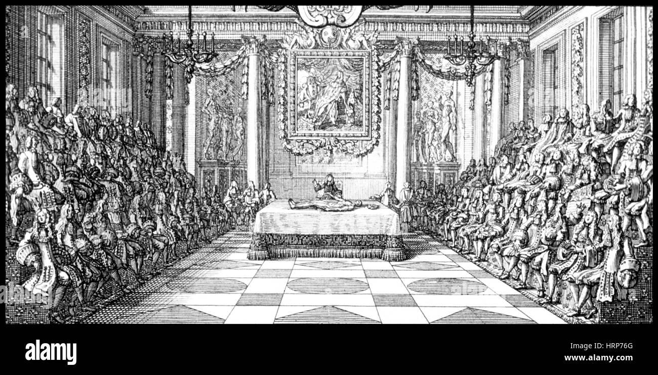 Anatomische Theater Dissektion, 18. Jahrhundert Stockfoto, Bild ...