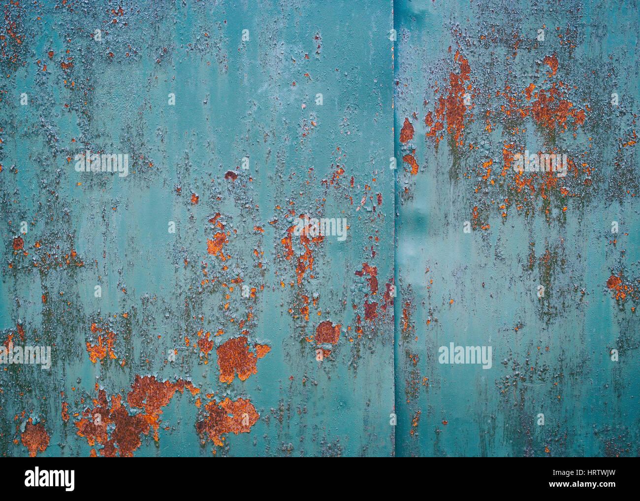 Vintage Hintergrund Alte Blech In Blauer Farbe Lackiert Der Lack