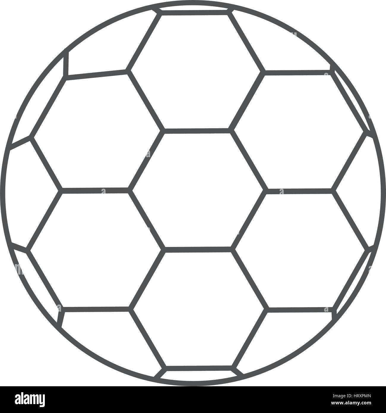 Graustufen-Kontur mit Fußball Stockbild