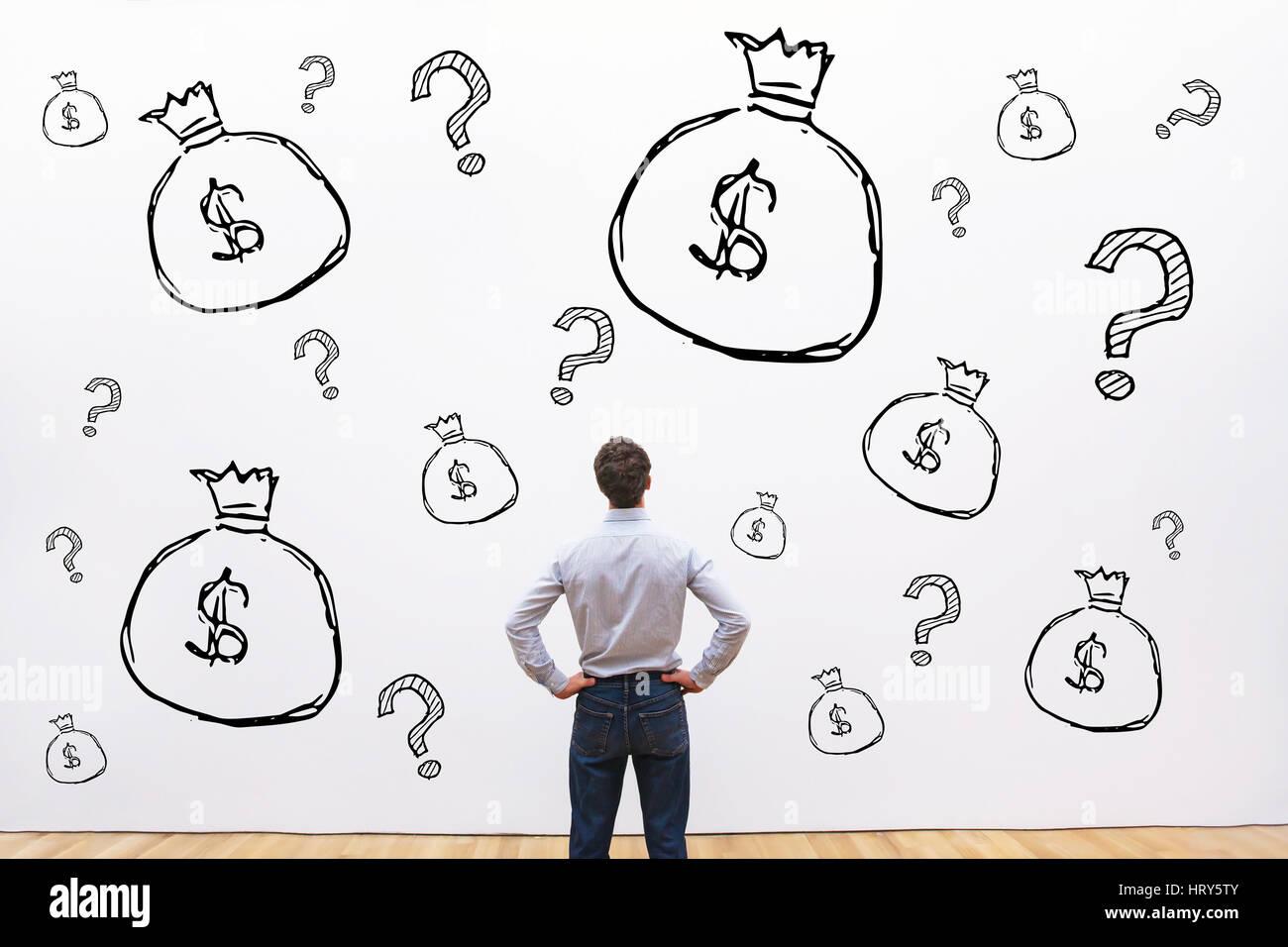 Kredite, Investitionen oder Fundraising Finanzkonzept, Geld, Existenzgründung Projekt starten Stockbild