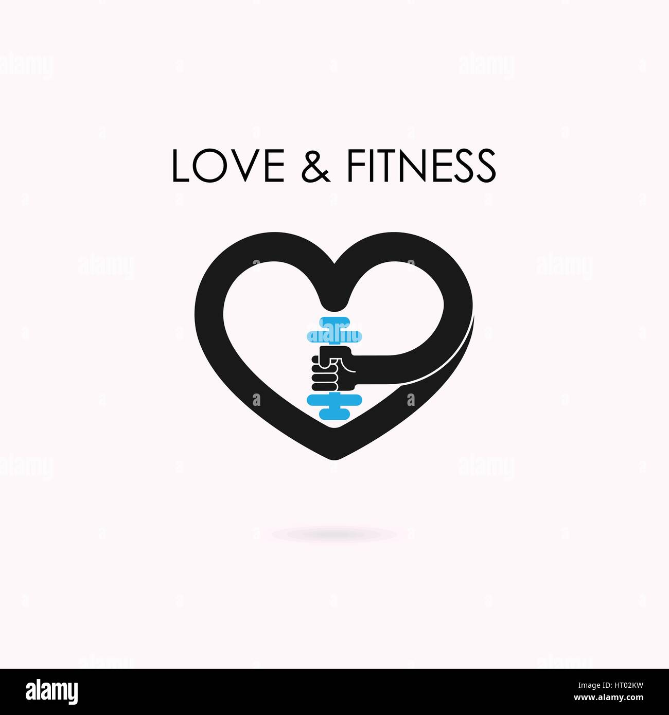Heart Barbell Healthy Fit Stockfotos & Heart Barbell Healthy Fit ...