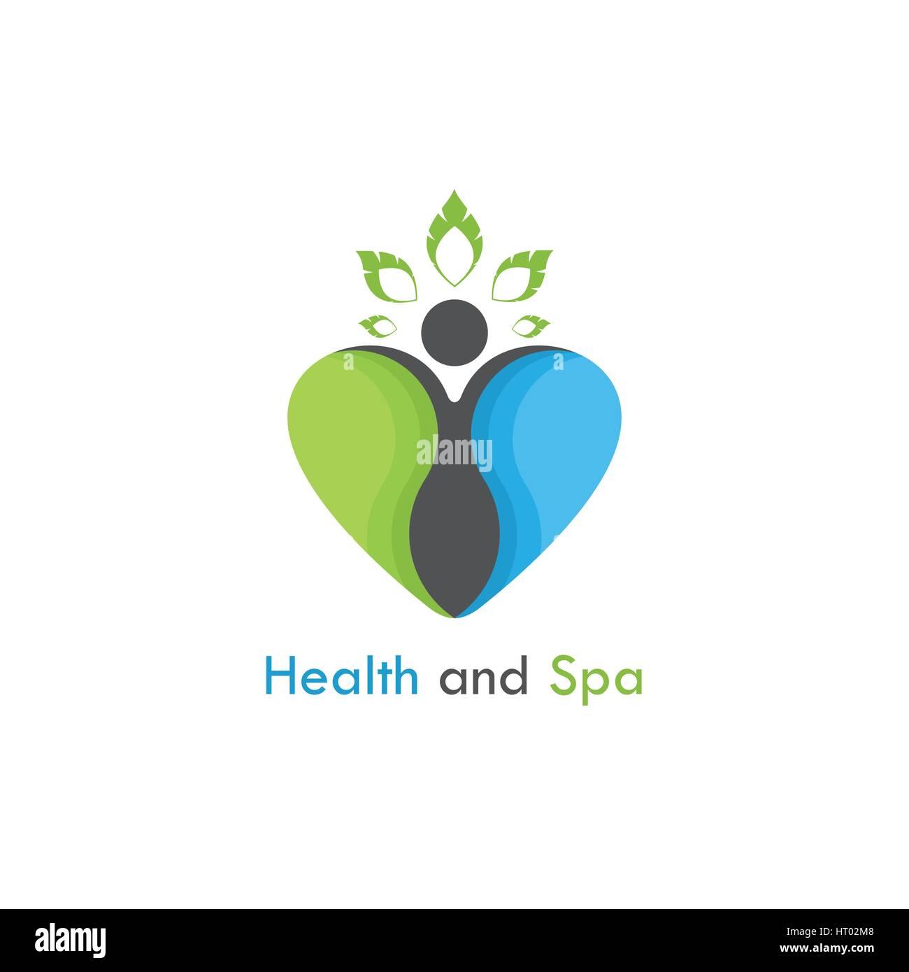 Gesundheit Spa Vektor Logo Design Vorlage Medical Healthcare