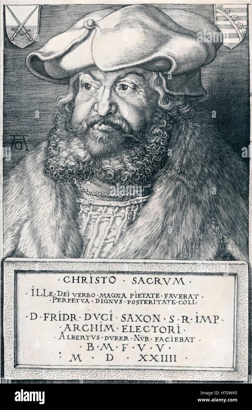 """""""Friedrich der Weise, Kurfürst von Sachsen"""", 1524 (1906).  Künstler: Albrecht Dürer. Stockbild"""