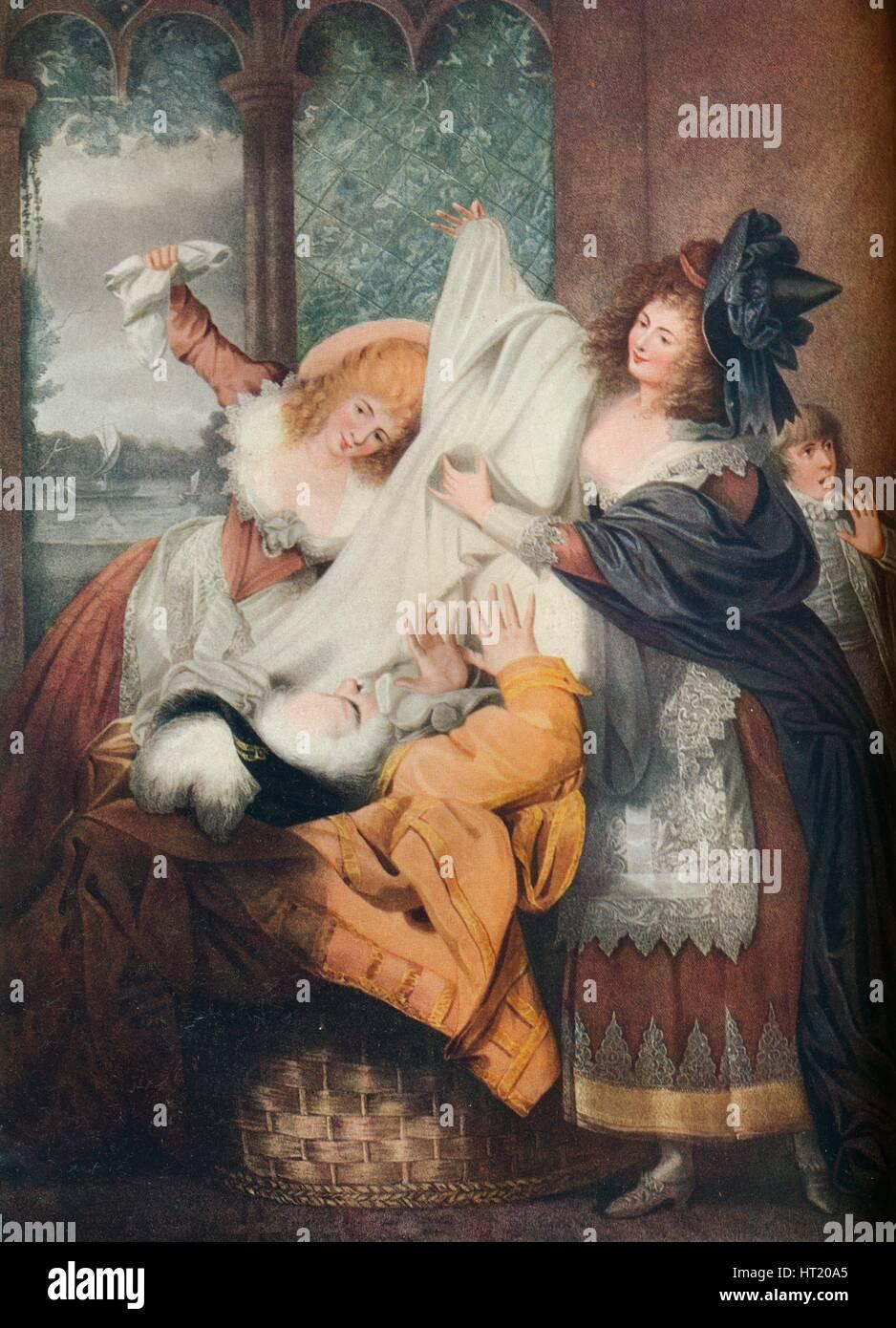 """Lustigen Weiber von Windsor: Akt III, Szene III"", c18th Jahrhundert. Künstler: IP-Simon Stockbild"