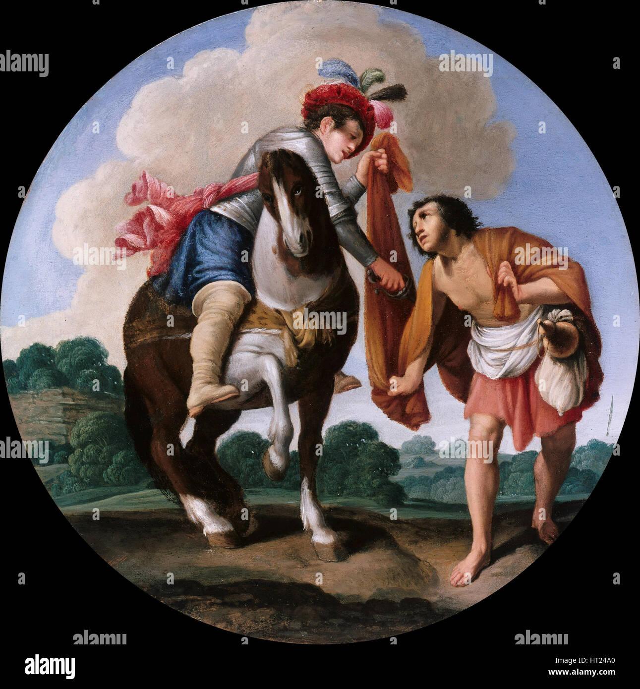 Der Heilige Martin und ein Bettler, um 1608-1610. Künstler: Saraceni, Carlo (1579-1620) Stockbild
