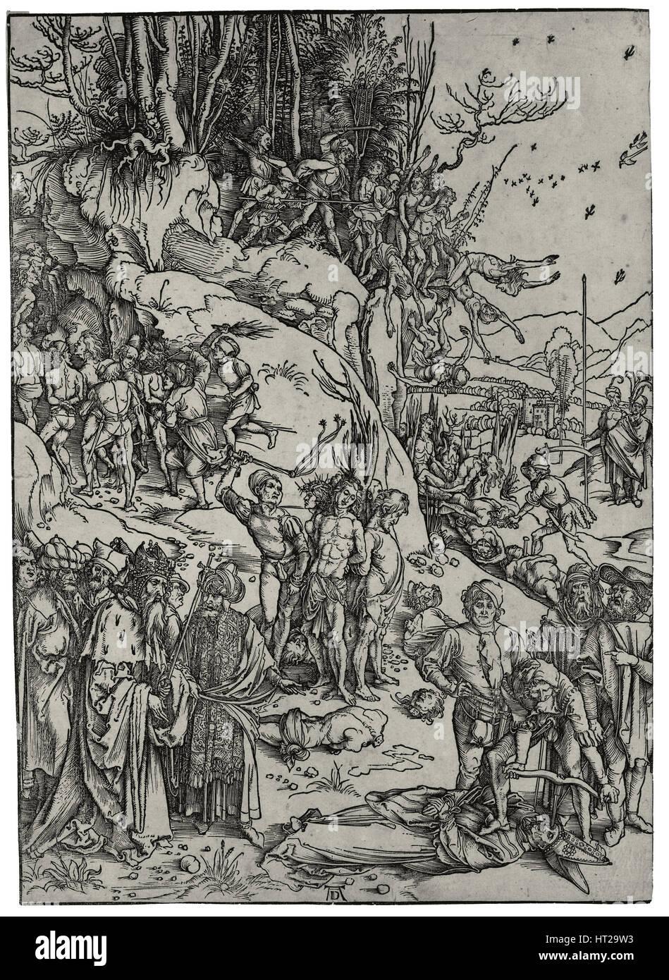 Das Martyrium der zehntausend, 1497. Künstler: Dürer, Albrecht (1471-1528)Stockfoto