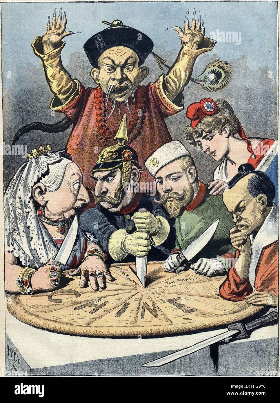 China Die Kuchen Der Konige Und Der Kaiser Karikatur 1898