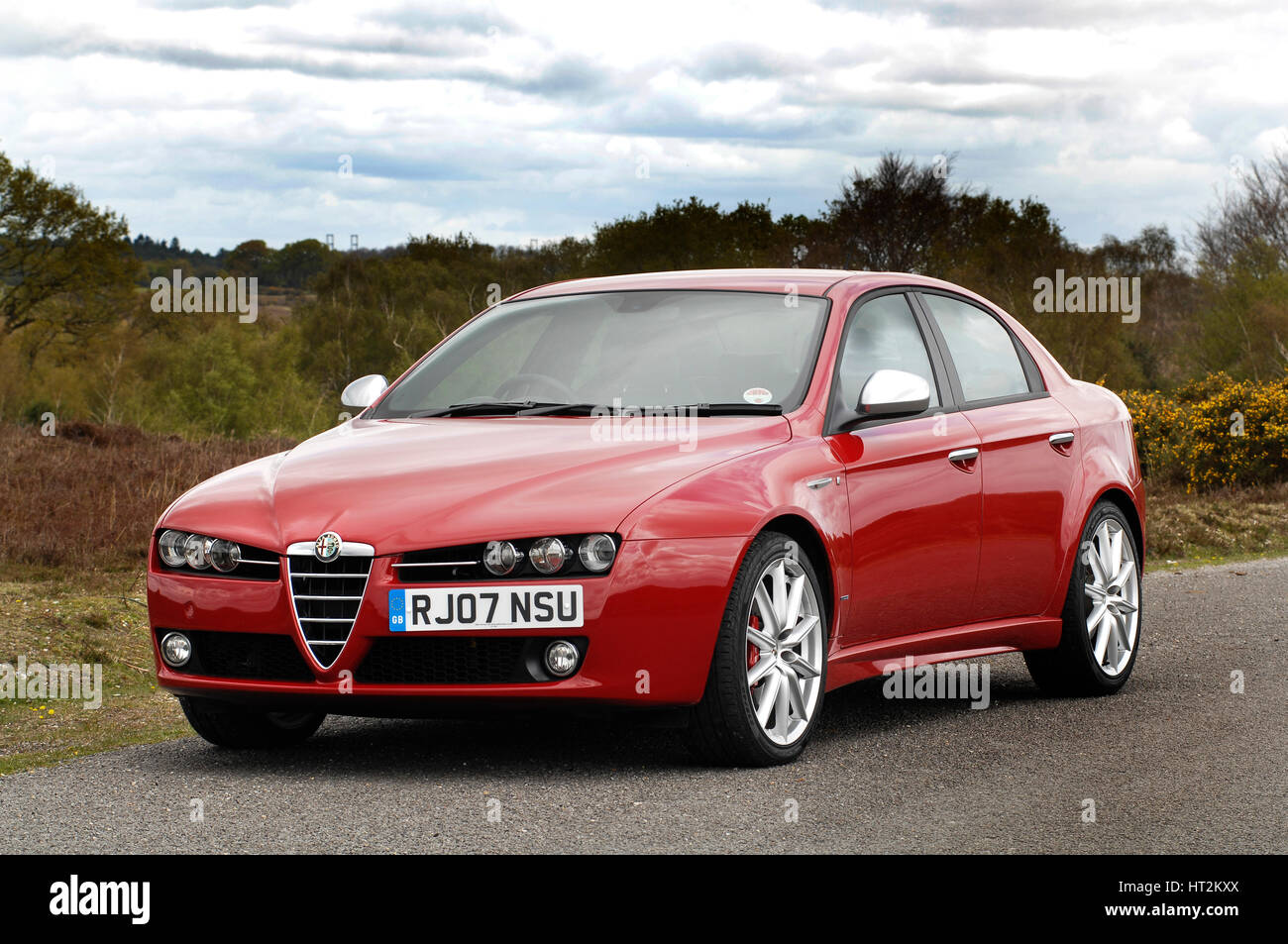 2007-Alfa Romeo 159. Künstler: unbekannt. Stockbild