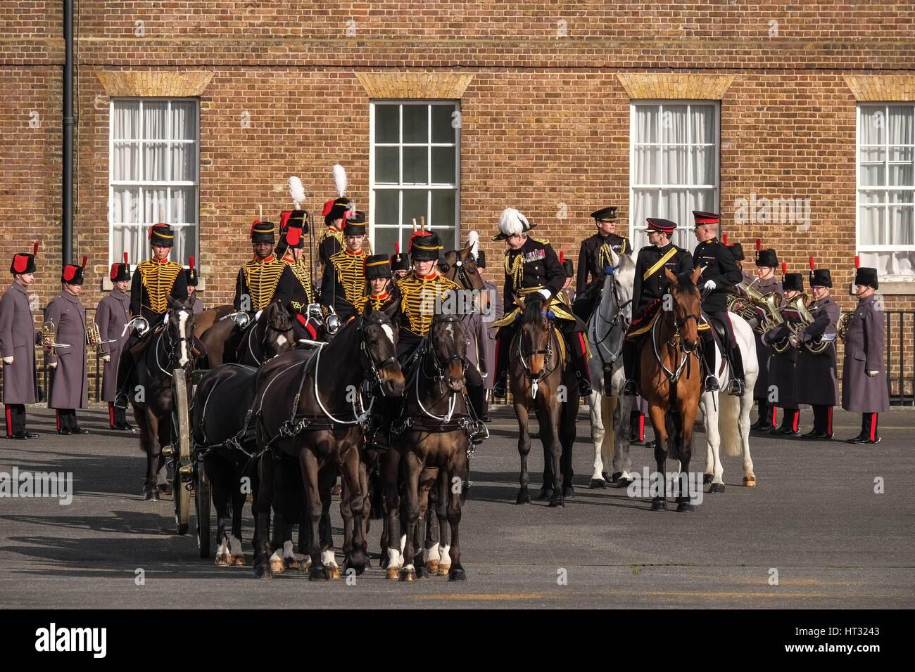 London Uk 7 Marz 2017 Konige Troop Royal Horse Artillery