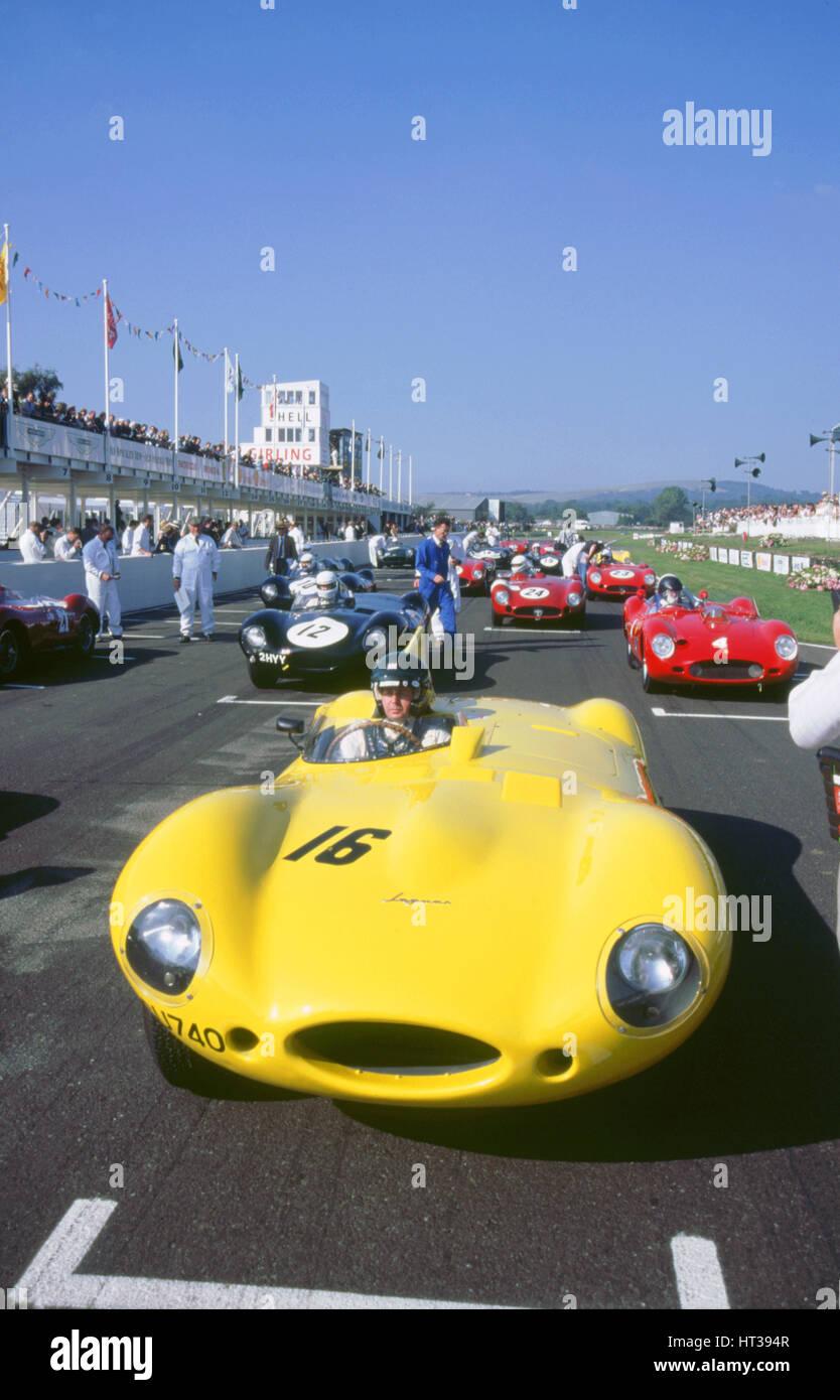 1998 Goodwood Revival Meeting. Jaguar D-Type, Martin Brundle. Künstler: unbekannt. Stockbild