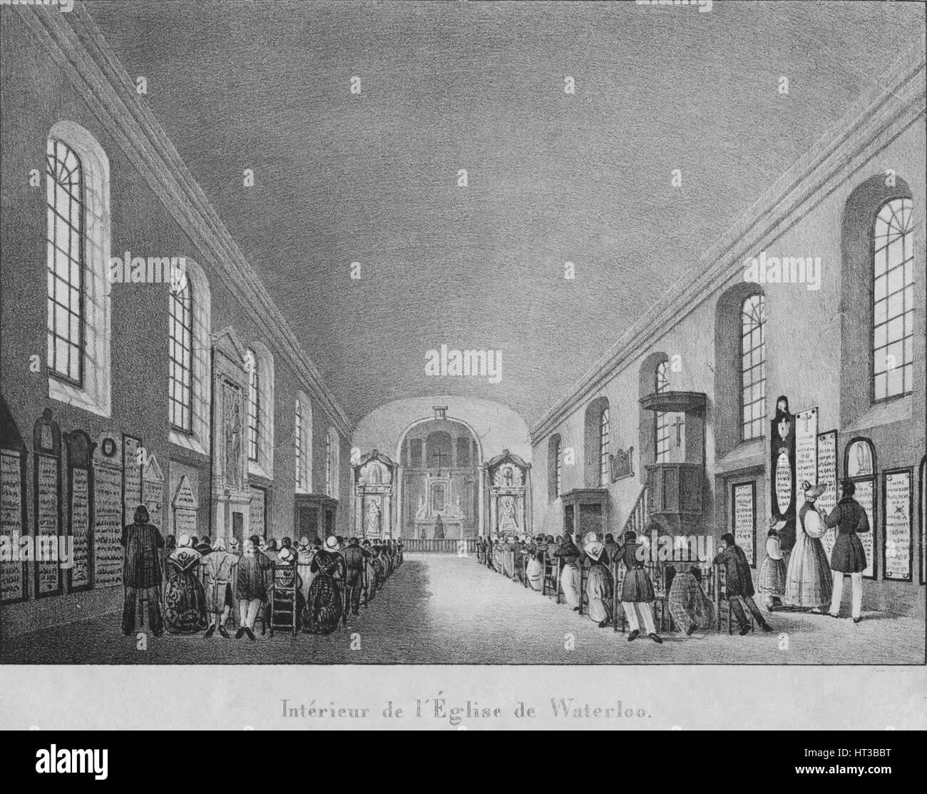 Interieur de Eglise de Waterloo', c1830. Künstler: unbekannt. Stockbild