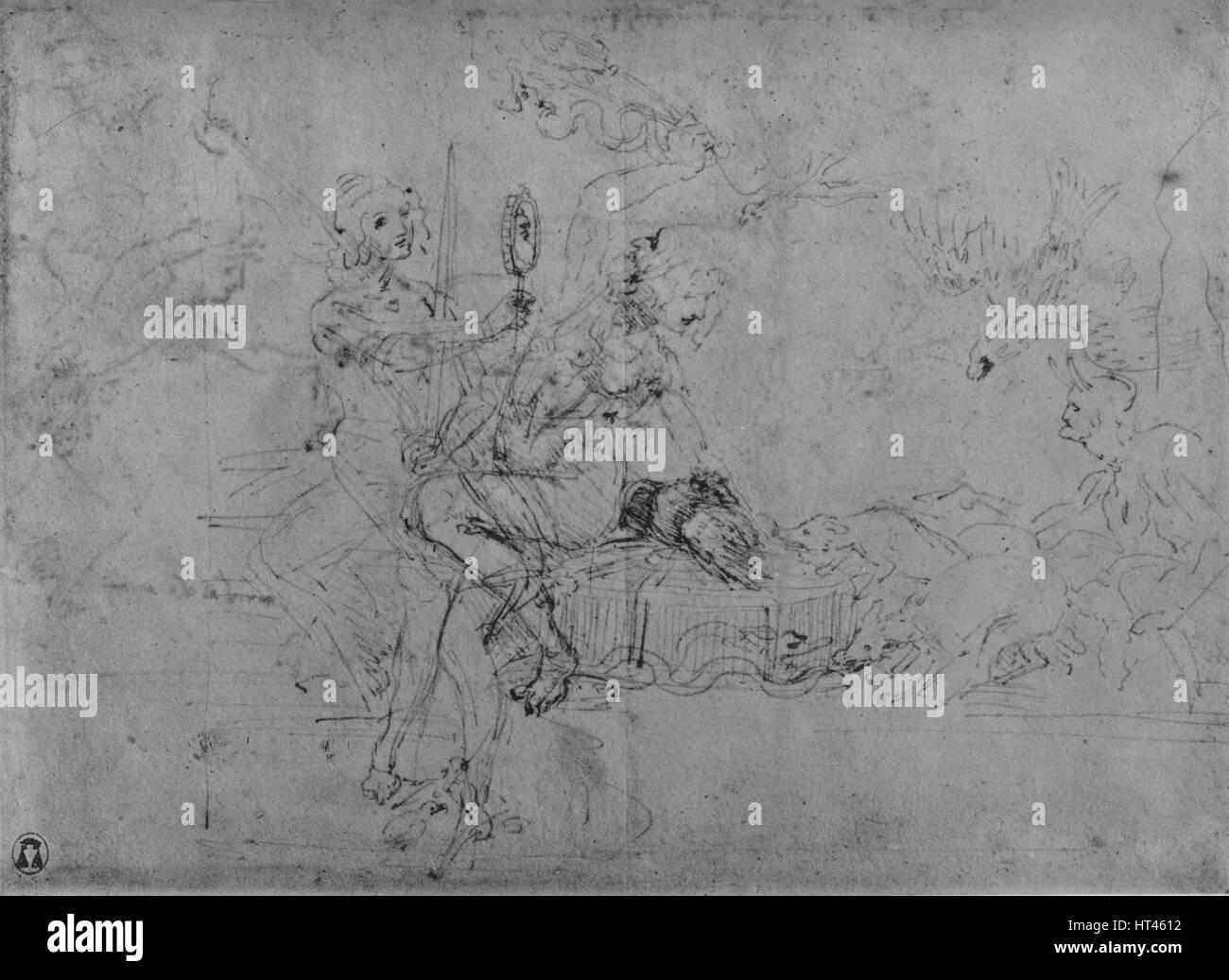 """""""Eine Allegorie der Staatskunst"""", c1480 (1945). Künstler: Leonardo da Vinci. Stockbild"""