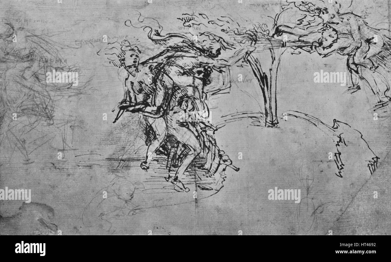 """""""Allegorie der Undankbarkeit und Neid"""", c1480 (1945). Künstler: Leonardo da Vinci. Stockbild"""