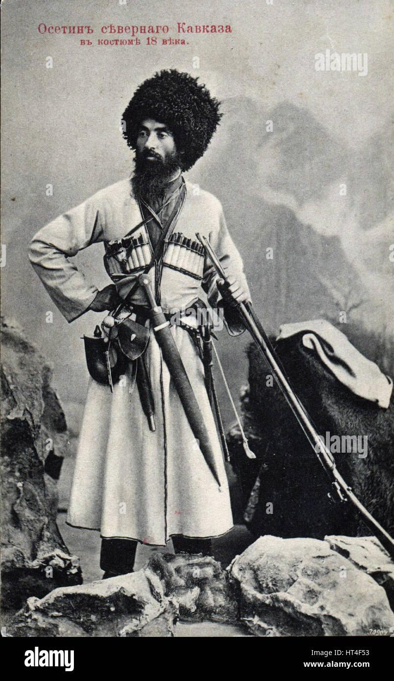 Ramonov Vano Ossetin nördlichen Kaukasus dress 18 Jahrhundert Stockbild