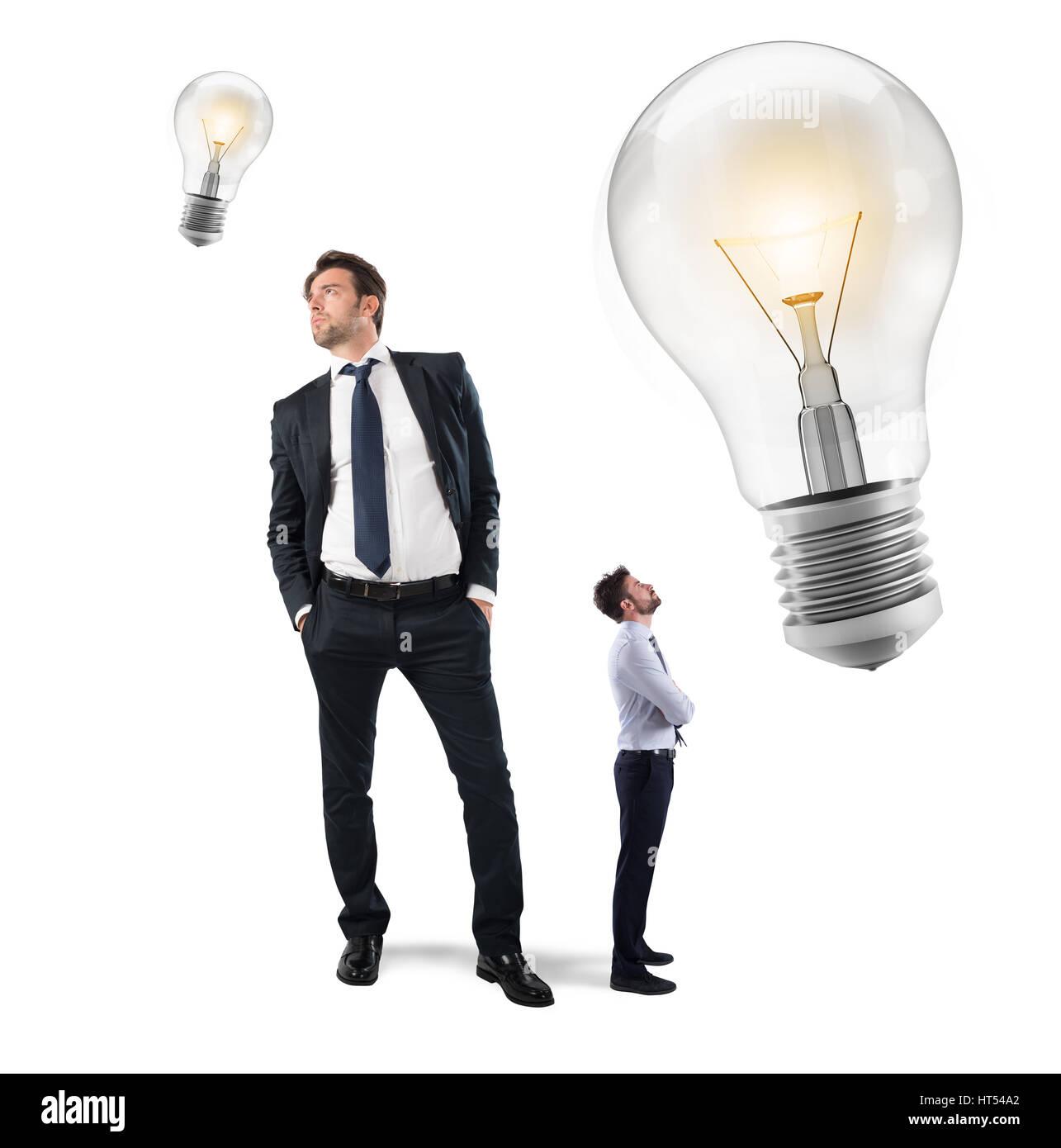 Tolle Ideen von kleinen Geschäftsleuten Stockbild