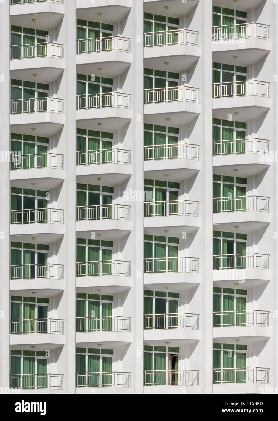 Sich Wiederholendes Muster Von Fenstern Und Balkon Aufbau Vorne