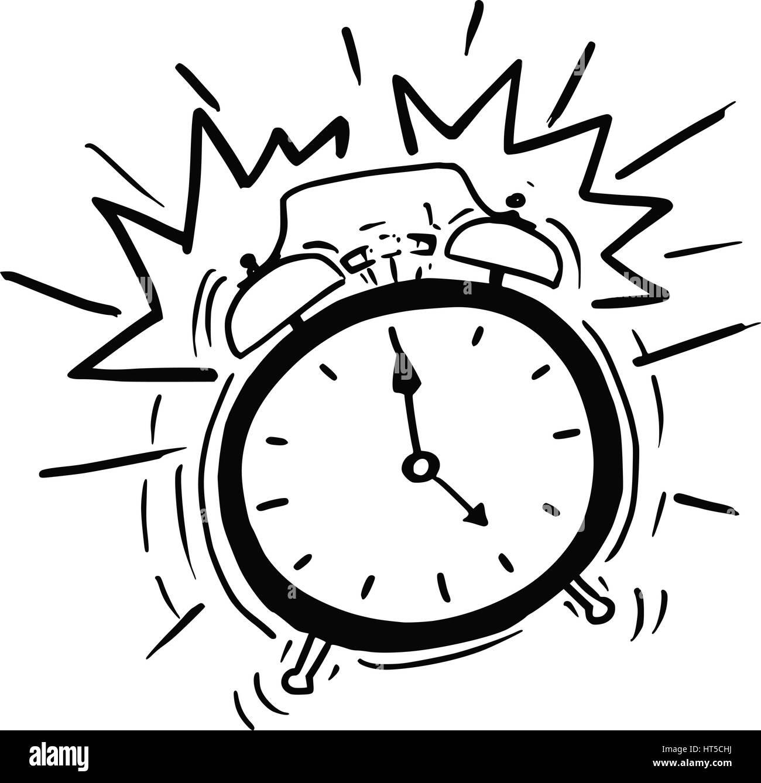 cartoon vektor illustration von klassischen wecker wake up clipart images wake up clipart black and white